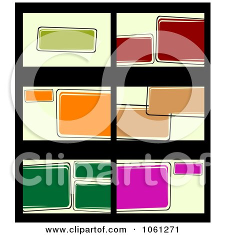 Royalty-Free Vector Clip Art Illustration of a Digital Collage Of Business Card Or Background Designs - 16 by Vector Tradition SM