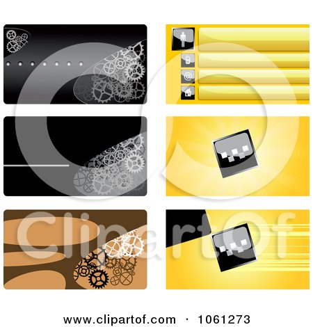Royalty-Free Vector Clip Art Illustration of a Digital Collage Of Business Card Or Background Designs - 5 by Vector Tradition SM