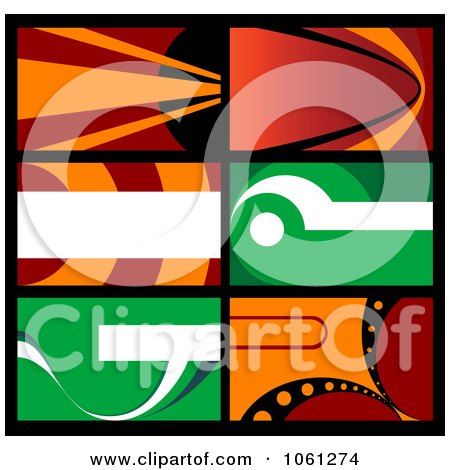 Royalty-Free Vector Clip Art Illustration of a Digital Collage Of Business Card Or Background Designs - 18 by Vector Tradition SM