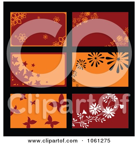 Royalty-Free Vector Clip Art Illustration of a Digital Collage Of Business Card Or Background Designs - 9 by Vector Tradition SM