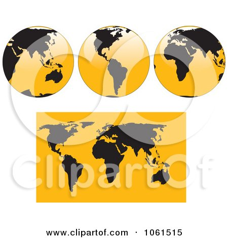 Free Vector World on Royalty Free Vector Clip Art Illustration Of A Digital Collage Of 3d