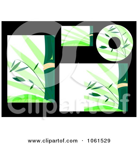 Royalty-Free Vector Clip Art Illustration of a Digital Collage Of Bamboo Labels And Stationery by Vector Tradition SM