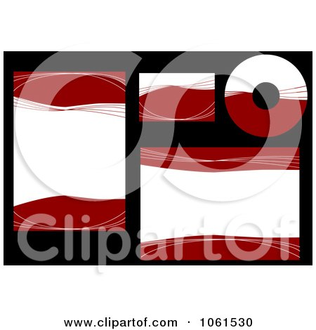 Royalty-Free Vector Clip Art Illustration of a Digital Collage Of Abstract Red And White Labels And Stationery by Vector Tradition SM