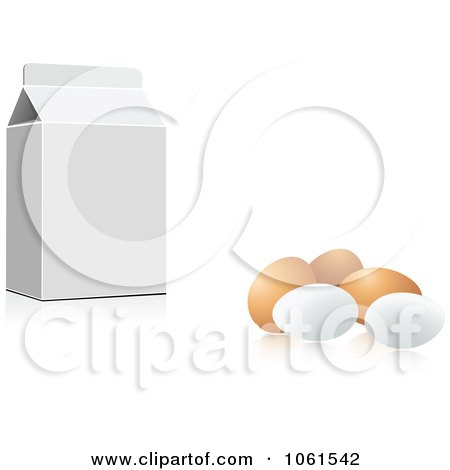 Royalty-Free Vector Clip Art Illustration of a 3d Carton And Eggs by Vector Tradition SM