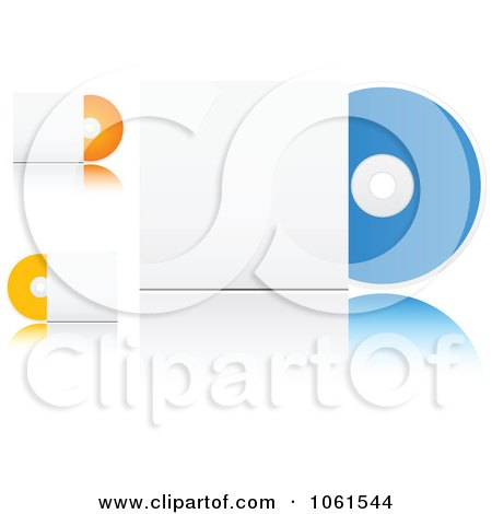 Royalty-Free Vector Clip Art Illustration of a Digital Collage Of 3d CDs With Sleeves by Vector Tradition SM