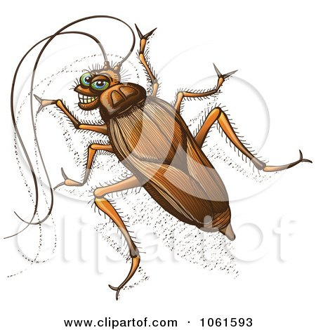 Clipart Grinning Cockroach - Royalty Free Vector Illustration by Zooco
