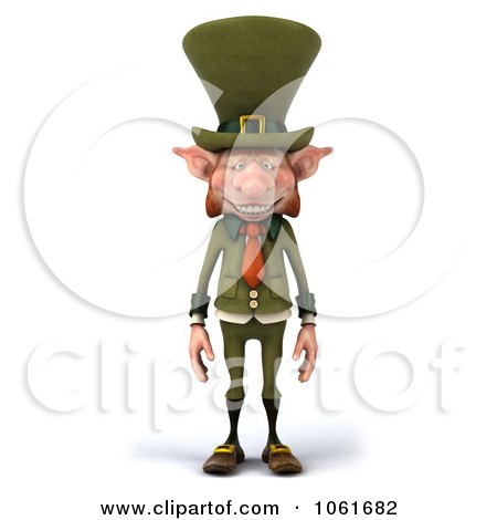 Clipart 3d Skinny Leprechaun - Royalty Free CGI Illustration by Julos