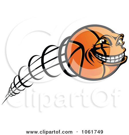 Clipart Fast Basketball Character - Royalty Free Vector Illustration by Vector Tradition SM