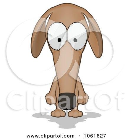 Cartoon Brown Pookie Wiener Dog Pouting Posters, Art Prints
