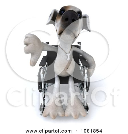 clipart 3d disabled jack russell terrier in a wheelchair 3 royalty free cgi illustration by. Black Bedroom Furniture Sets. Home Design Ideas