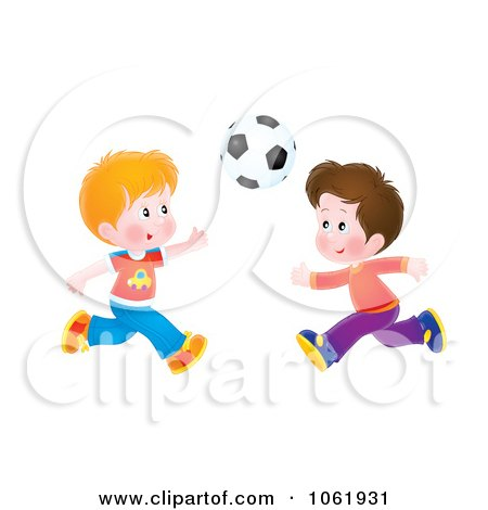 Clipart Boys Playing Soccer - Royalty Free Illustration by Alex Bannykh