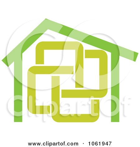 Clipart Green Home - Royalty Free Vector Illustration by Vector Tradition SM