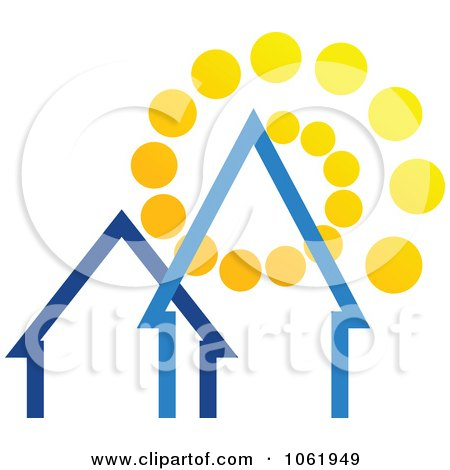 Clipart Solar Powered House 2 - Royalty Free Vector Illustration by Vector Tradition SM