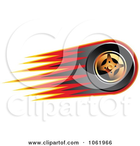 Clipart Fast Race Car Tire 2 - Royalty Free Vector Illustration by Vector Tradition SM