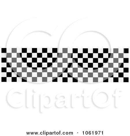 Clipart Racing Checkered Flag Banner - Royalty Free Vector Illustration by Vector Tradition SM