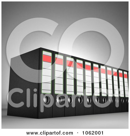 Clipart 3d Archival Ring Binders - Royalty Free CGI Illustration by stockillustrations