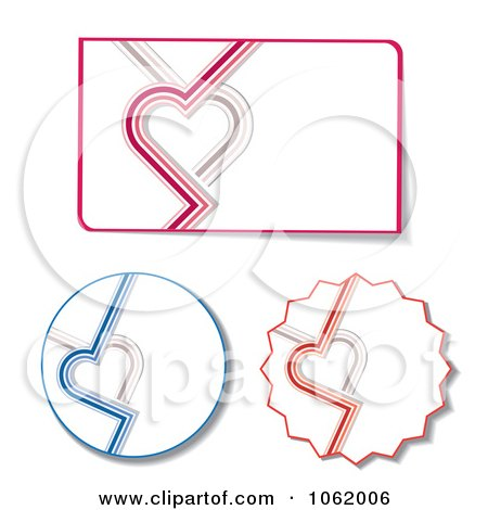 Clipart Heart Design Elements Digital Collage - Royalty Free Vector Illustration by MilsiArt