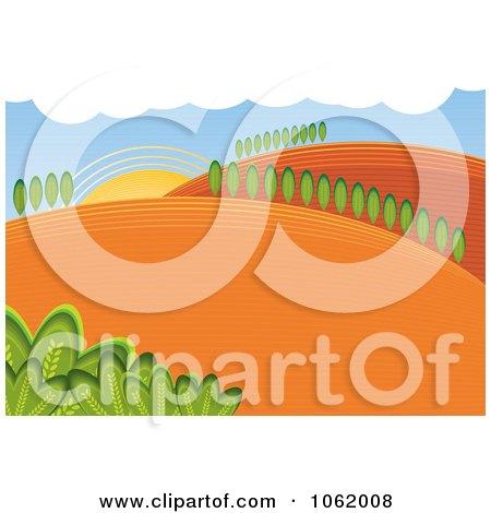 Hilly Rural Farm Landscape Posters, Art Prints