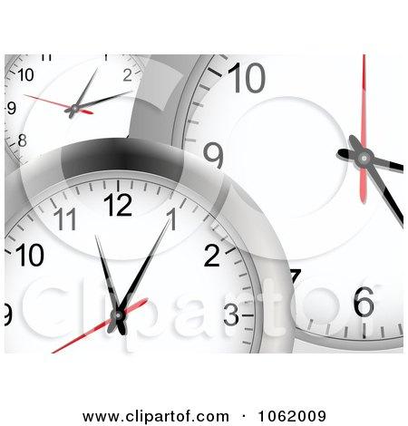 Clipart 3d Wall Clock Background - Royalty Free Vector Illustration by elaineitalia
