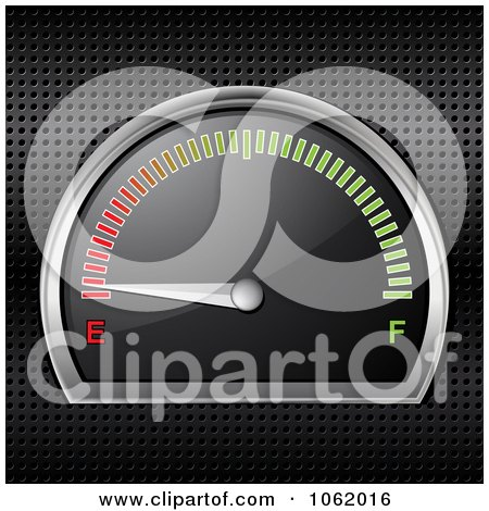 Clipart 3d Gasoline Gauge On Empty - Royalty Free Vector Illustration by elaineitalia
