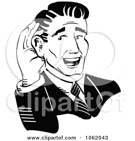 Ear Clip Art Black And White