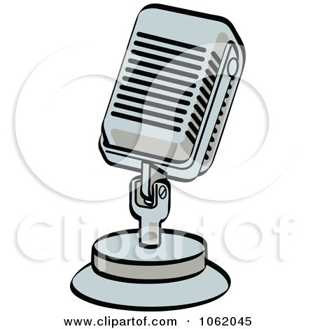 Clipart Retro Desk Microphone - Royalty Free Vector Entertainment Illustration by Andy Nortnik