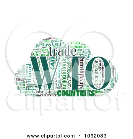 Clipart World Trade Organization Word Collage 1 - Royalty Free Illustration by MacX