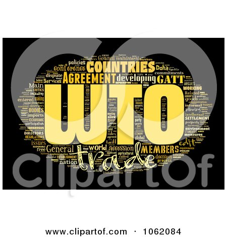 Clipart World Trade Organization Word Collage 2 - Royalty Free Illustration by MacX