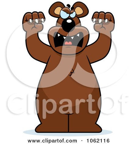 Clipart Big Bear Roaring - Royalty Free Vector Illustration by Cory Thoman