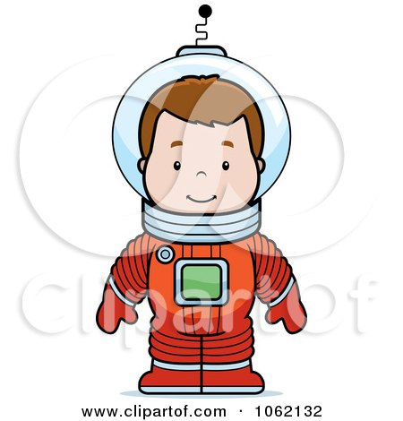 Clipart Astronaut Boy - Royalty Free Vector Illustration by Cory Thoman