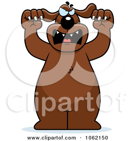 Clipart Big Mean Dog Attacking - Royalty Free Vector Illustration by Cory Thoman