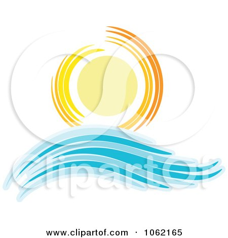 Clipart Summer Sun And Ocean Wave 6 - Royalty Free Vector Nature Illustration by KJ Pargeter