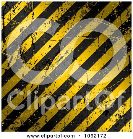 Clipart Golden Scratched Hazard Stripes Background - Royalty Free Vector Illustration by KJ Pargeter