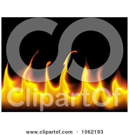 Clipart Flame Background - Royalty Free Illustration by oboy