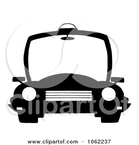 Clipart Black And White Police Patrol Car - Royalty Free Vector Illustration by Hit Toon
