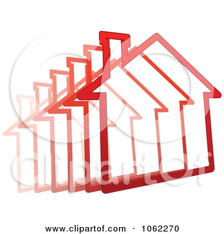 Clipart Zooming Red House - Royalty Free Vector Illustration by Vector Tradition SM