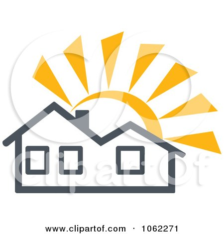 Clipart Solar Powered House 1 - Royalty Free Vector Illustration by Vector Tradition SM