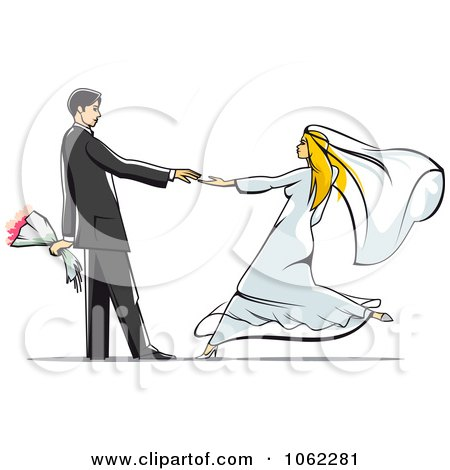 Clipart Dancing Wedding Couple 2 - Royalty Free Vector Illustration by Vector Tradition SM