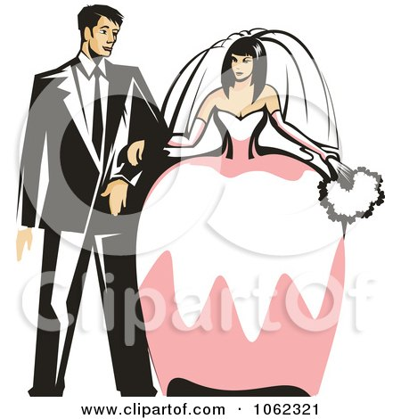 Clipart Wedding Couple - Royalty Free Vector Illustration by Vector Tradition SM