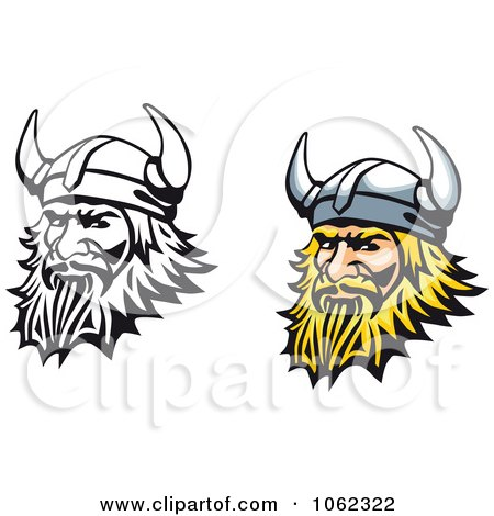 Clipart Viking Men Digital Collage - Royalty Free Vector Illustration by Vector Tradition SM
