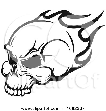 Flaming Skull Coloring Pages http://www.clipartof.com/portfolio/seamartini/illustration/black-and-white-flaming-skull-logo-3-1062337.html