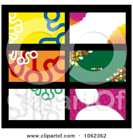 Clipart Business Card Layouts Digital Collage 1 - Royalty Free Vector Illustration by Vector Tradition SM