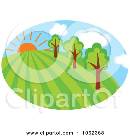Clipart Spring Landscape Logo 4 - Royalty Free Vector Illustration by Vector Tradition SM