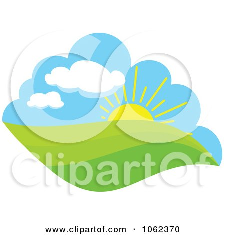 Clipart Spring Landscape Logo 6 - Royalty Free Vector Illustration by Vector Tradition SM
