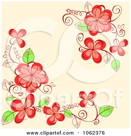 Clipart Pink Floral Background 22 - Royalty Free Vector Illustration by Vector Tradition SM