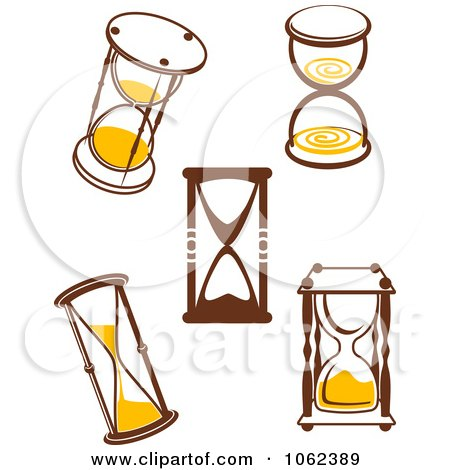 Clipart Hourglasses Digital Collage 1 - Royalty Free Vector Illustration by Vector Tradition SM