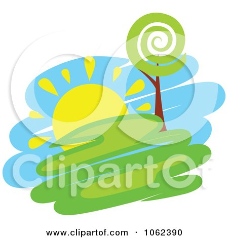 Clipart Spring Landscape Logo 3 - Royalty Free Vector Illustration by Vector Tradition SM