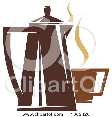 Clipart Coffee Logo 4 - Royalty Free Vector Illustration by Vector Tradition SM