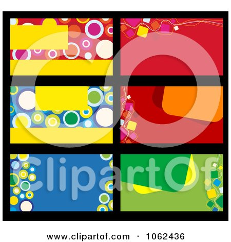 Clipart Business Card Layouts Digital Collage 3 - Royalty Free Vector Illustration by Vector Tradition SM