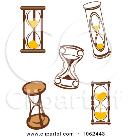 Clipart Hourglasses Digital Collage 2 - Royalty Free Vector Illustration by Vector Tradition SM